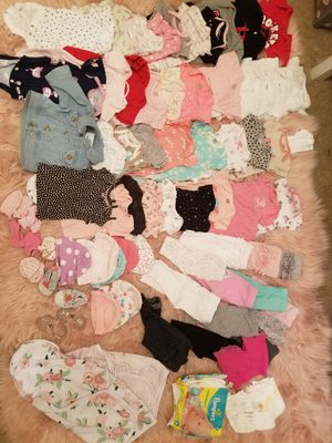 84 piece baby girl clothes lot for Sale in Hockley, TX