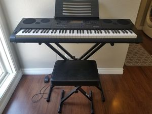 Casio WK 6600 Keyboard with Stand & Bench for Sale in Rancho Cucamonga, CA