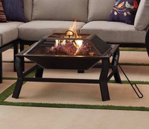 """New 30"""" Square Wood Burning Fire Pit With Mesh Screen for Sale in Columbia, SC"""