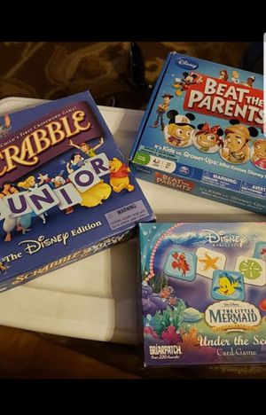 Scrabble jr/memory game/beat the parents disney edition for Sale in Federal Way, WA