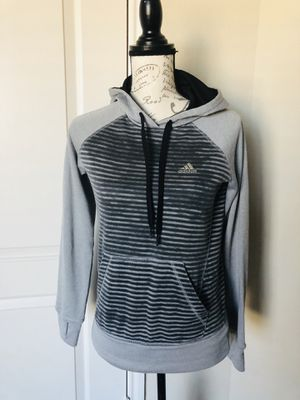 Adidas Gray climawarm ultimate hoodie Xs with thumb holes for Sale in Houston, TX