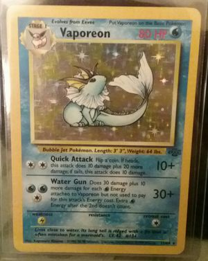 Pokemon Card - Holographic Vaporeon for Sale in Mead, WA