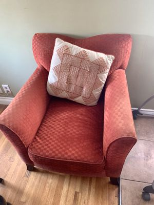 Couch/Sofa (Single) with Matching Pillow -Red for Sale in Norwalk, CA