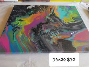 Acrylic Abstract Painting for Sale in Cadillac, MI