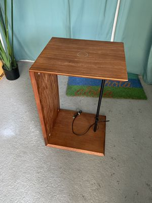 Wood side table nightstand or tray with wireless charging for your device! 2 left for Sale in Laguna Beach, CA