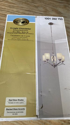 Hampton bay 5 light chandelier for Sale in Arvada, CO