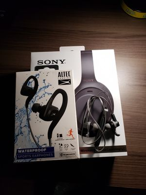 Sony Bluetooth Headphone and ALTEC &Vivitar bluetooth earbuds for Sale in Nashville, TN