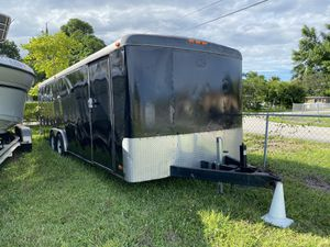 8 x 24 enclosed landscape trailer/car transport with ramp Clean Title for Sale in Hollywood, FL