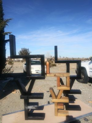 Wood LOVE shelves for Sale in Pinon Hills, CA