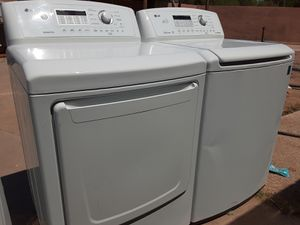 SET. LG WASHER AND ELECTRIC DRYER for Sale in Phoenix, AZ