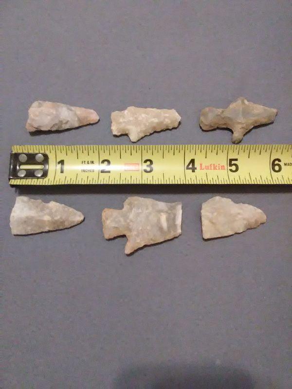 6 Arrowheads From Central Kentucky