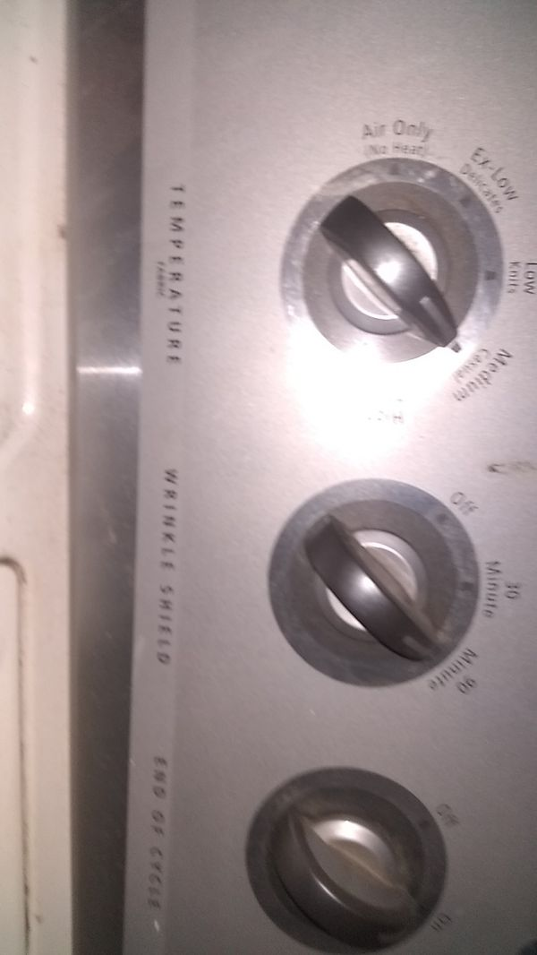 Whirlpool dryer and washer