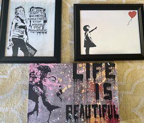 Banksy Wall Art for Sale in Reston, VA