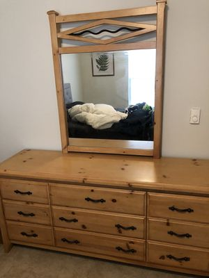 SeaPine Bedroom Dresser & Mirror for Sale in Mount Pleasant, MI