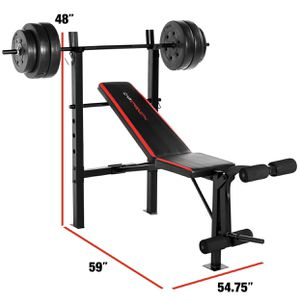 🏋️♂️Brand New💪🏼WeightBench + Squat Rack + 100lb WeightSet for Sale in Stockton, CA
