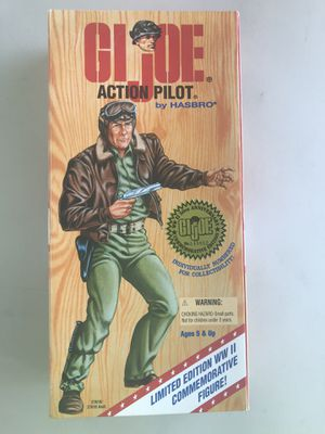 """12"""" GI Joe Action Pilot figure WWII 50th Anniversary Numbered Commemorative Edition (Hasbro 1995) for Sale in Phoenix, AZ"""