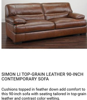 Very elegant leather heavy sofa. for Sale in Elgin, IL