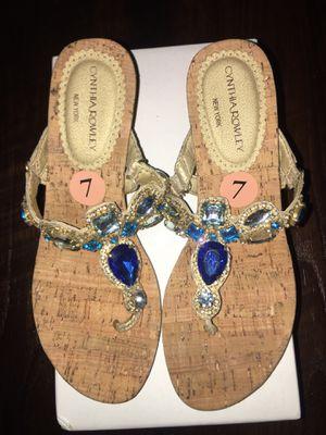 Cynthia Rowley gem sandals, size 7 for Sale in Hacienda Heights, CA