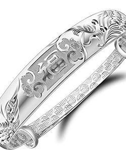 925 Silver Dragon Phoenix Blessing Bracelet for Sale in Philadelphia,  PA