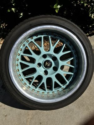 Authentic work VSXX rims and tires (Staggered fitment) for Sale in Canoga Park, CA