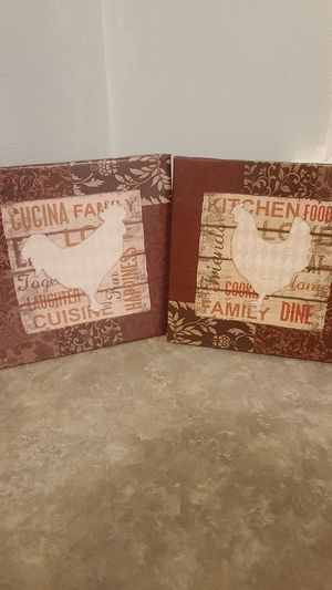 Set of 2 kitchen wall art for Sale in Chesapeake, VA