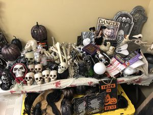 Huge lot of Halloween props decorations $500 make a offer need to sell moving for Sale in Sierra Madre, CA