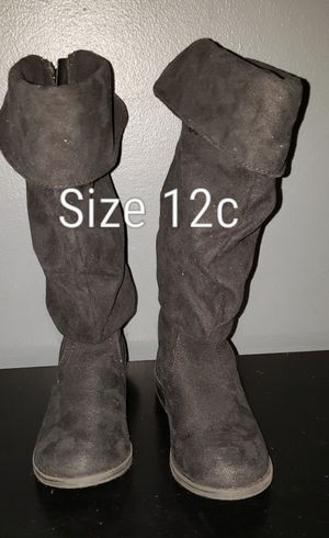 Black Boots size 12c kids for Sale in Renton, WA