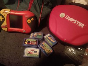 Disney Pixar cars leapster w/5 games and case for Sale in Memphis, TN