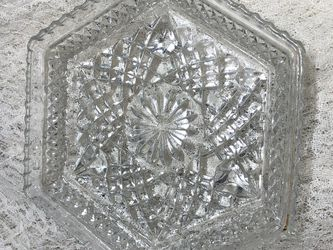 Vintage Crystal Footed Hexagon Dish for Sale in North Royalton,  OH