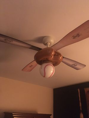 Hunter glove and baseball overhead fan for Sale in White Lake charter Township, MI