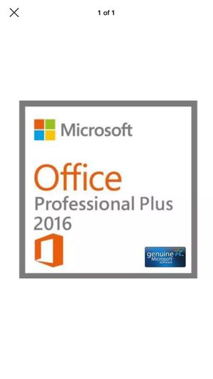 Microsoft Office Professional 2016 Brand New License Key for Sale in Wylie, TX