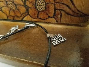"""New """"QUE PASA"""" necklace pendant charm for Sale in Boston, MA"""