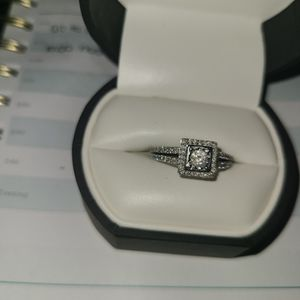 Solid White Gold 5/8 CT Real Diamond Engagement Ring for Sale in Phoenix, AZ