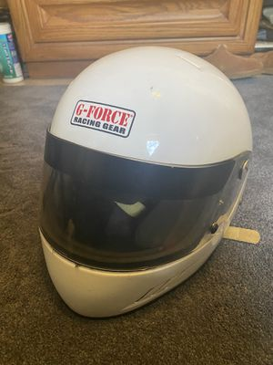 GForce Racing Helmet white medium (SA2005) for Sale in San Jose, CA