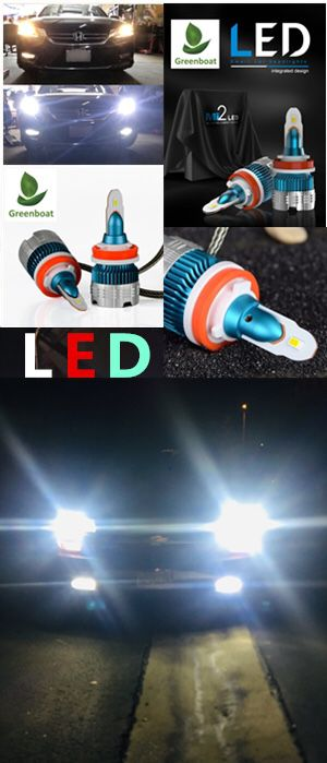 2019 New series H11 H9 H8 LED Headlight Bulb Kit Low Beam Fog Light 60W 6000K 7600LM US brand#GreenBoat for Sale in Cerritos, CA