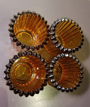 Vintage amber candle holders for Sale in Long Beach, CA