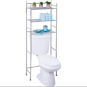 Honey Can Do 3-Tier Over The Toilet Space Saver, Chrome for Sale in Plano, TX