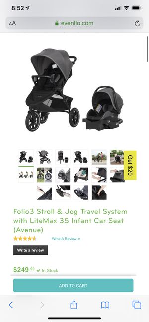 Evenflo travel system for Sale in Colorado Springs, CO