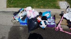 Shoes stuffed animals backpacks etc for Sale in Orange, CA