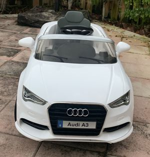 Power wheels, ride on toys, toy car, baby car, toddlers Electric kids car Audi A3 12V remote control for Sale in Hallandale Beach, FL