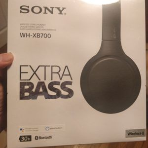 Sony bluetooth headphones wh-xb700 sealed unopened for Sale in Newton, MA