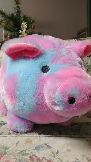Jumbo plush piggy bank for Sale in Cedar Falls, IA