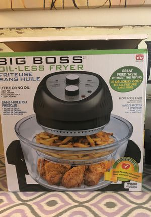 Big Boss Oil-Less Fryer! This was a gift that I used once. You can see it's brand new. Selling for $35 OBO. for Sale in Cedar Grove, NJ