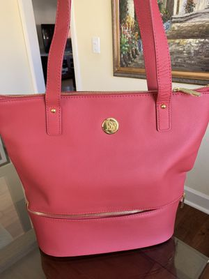 Joy mangano leather tote bag for Sale in Poway, CA