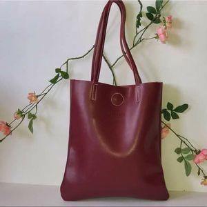 Red leather shopper tote shoulder bag for Sale in GRANT VLKRIA, FL