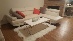 White sectional couch for Sale in Salt Lake City, UT