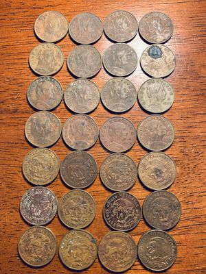 28 monedas de 5 centavos mexicanos 1960 @1970 for Sale in Anaheim, CA