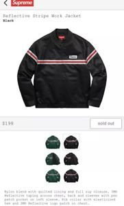 Supreme Reflective Stripe Work Jacket