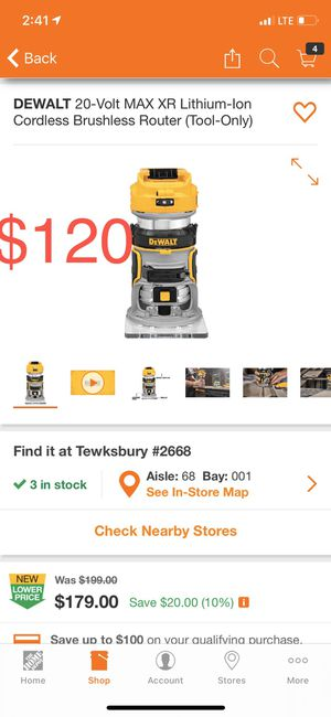 Dewalt Cordless Router for Sale in Peabody, MA