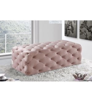 "Casey velvet ottoman/bench pink 52""x22.5""x18"" for Sale in West Valley City, UT"